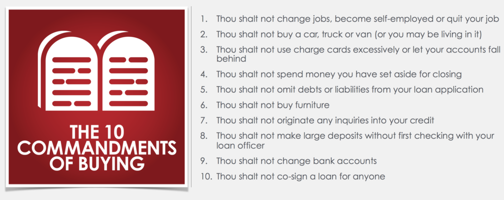 The 10 Commandments of Buying